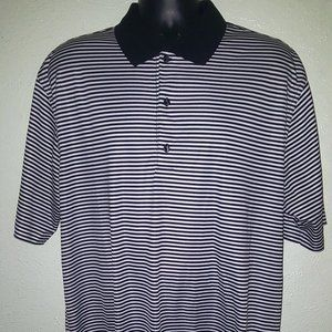 Greg Norman Striped Play Dry golf Polo Shirt